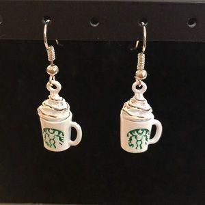 NWT! Adorable Betsey Johnson Starbucks Earrings!
